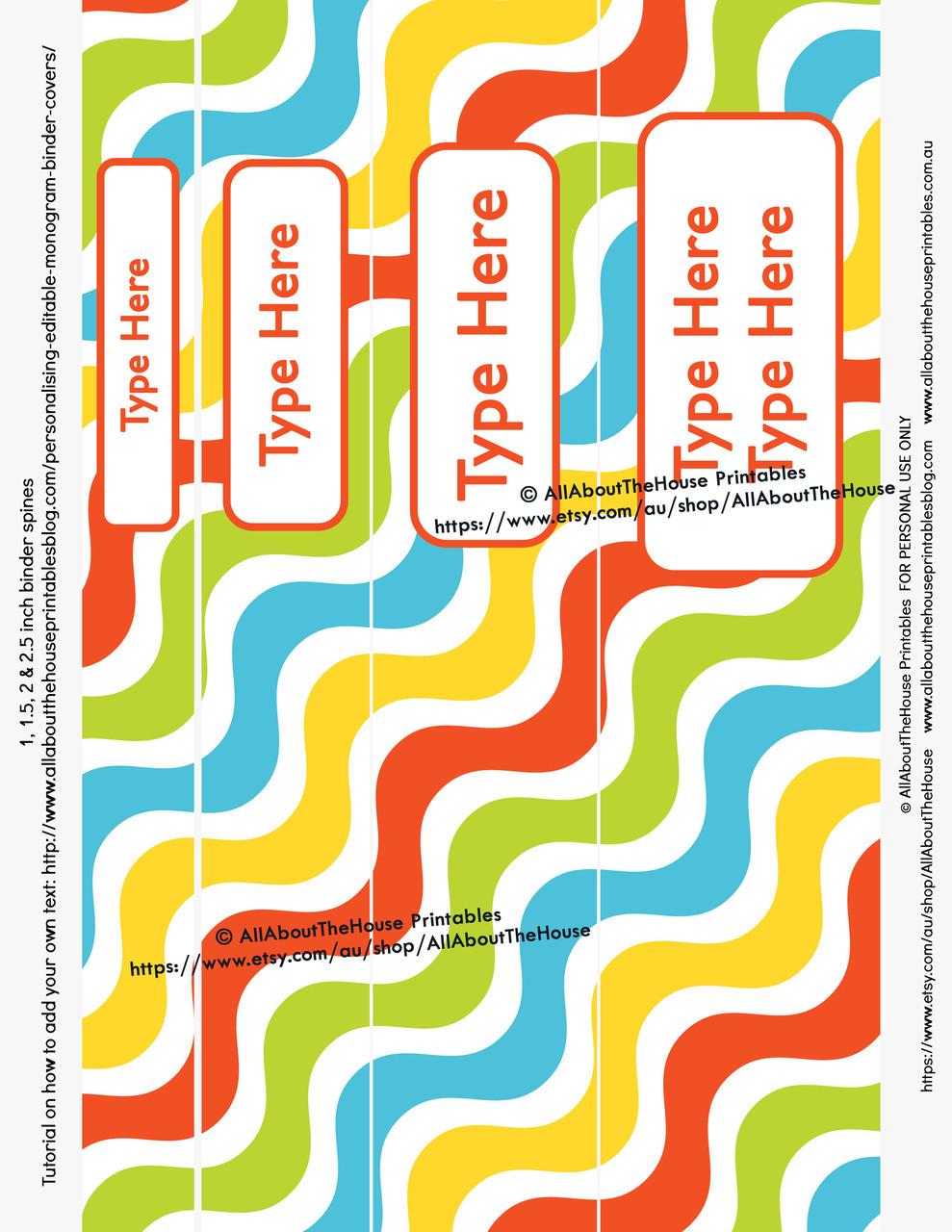 graphic relating to Binder Inserts Printable named EDITABLE Rainbow Dinosaur Boy Binder Handles