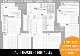 Habit Tracker Printables - Neutral