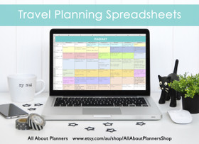 Travel Planning Spreadsheets (Excel or Google Docs)