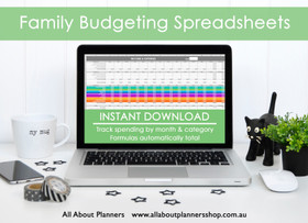 Rainbow Family Budgeting excel spreadsheets