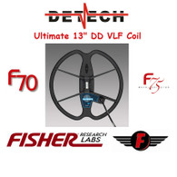 "Detech 13"" Ultimate Coil for Fisher F70/F75"