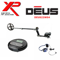 "XP DEUS With WS4 Display + 9"" Search Coil + FX-02 Wired Backphone Heaphones"