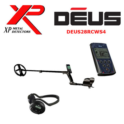 "XP DEUS With WS4 Backphone Headphones + Remote + 11"" Coil"