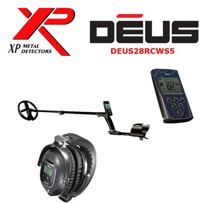 """XP DEUS With WS5 Full Sized Headphones + Remote + 11"""" Coil"""