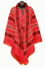 Spring Poncho Red