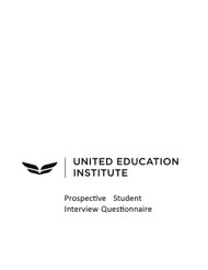 UEI - Interview Questionnaire