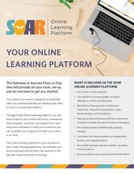 SOAR Online Learning Platform - Flyer