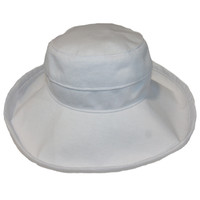 White Cotton - Wide Brim - The Noosa Hat