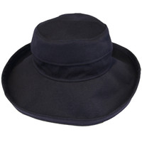 Navy Cotton - Wide Brim - The Noosa Hat