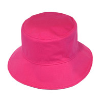 Bucket Hat | Hot Pink & Navy | Cotton