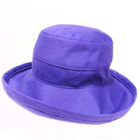 Purple Cotton - Short Brim - The Noosa Hat