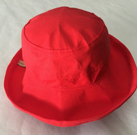 Coral  Linen / Cotton - Short Brim - The Noosa Hat