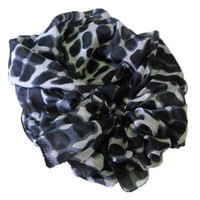 100% Silk Scarf - Topshow Hat Accessory - Black Print