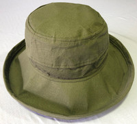 Olive Linen / Cotton Noosa Hat