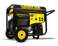CHAMPION 100219 7500/9375 Watts - Portable Generator Electric Start w/Power Cord CARB Compliant