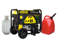 CHAMPION 100165  7500W / 9375W DUAL FUEL Gasoline / LPG Portable Generator Electric Start
