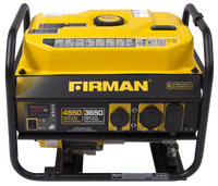 Firman P03602 Portable Gas  4550/3650 Watt Recoil Start w/ Wheel Kit