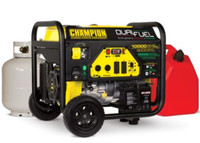 CHAMPION 100297  8000W / 10,000W DUAL FUEL Gasoline / LPG Portable Generator Electric Start