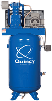 Quincy QT-54 5HP 60 Gallon Two Stage Air Compressor 240V 1ph