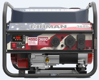 Firman P03611 Red-White-Blue Portable Gas  4550/3650 Watt Recoil Start