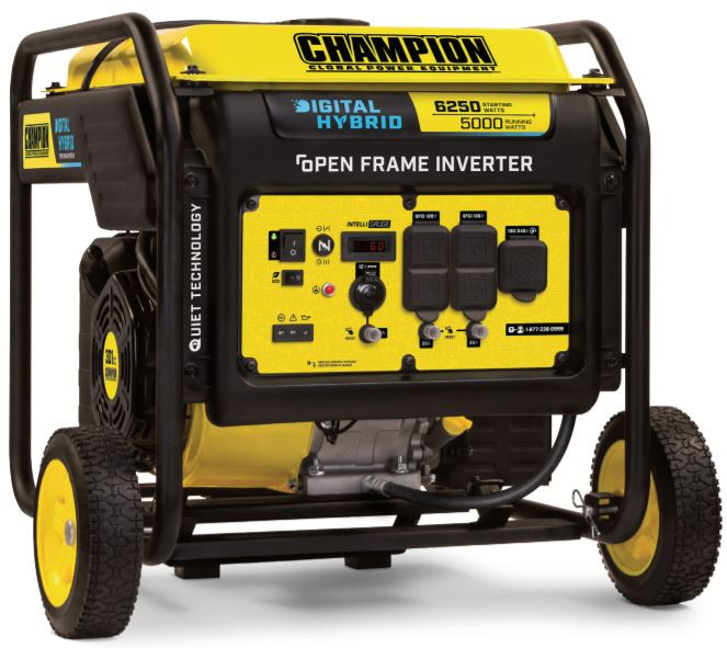 CHAMPION DH5000 Watt Digital Hybrid Open Frame Inverter Generator 100519
