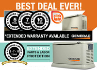 Generac 5 Year Air-Cooled Extended Warranty Extension DEW-EXWAR100001- New Models