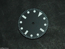 Plain Milsub Watch Dial for DG 2813 Movement w/o date White Lume
