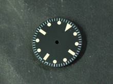 Plain Milsub Watch Dial for ETA 2836 / 2824 Movement Yellow Lume