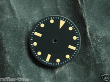 Plain Milsub Watch Dial for DG 2813 Movement w/o date Orange Lume T < 25