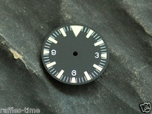 Yellow Lume SM Dial for ETA 2836 / 2824 Movement Triangle@12 for Seamaster 300 Style Watch