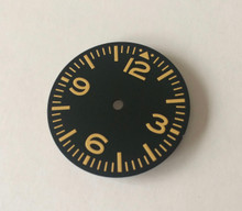 Plain Pilot Aviation Aviator Dial for 7S26 NH35 movement 28.5mm Yellow Superluminova