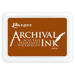 Sepia, Ranger Archival Ink Pad -