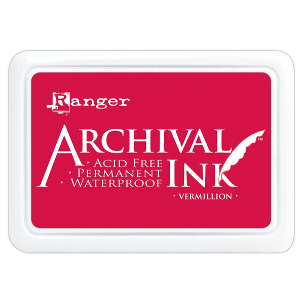 Vermillion, Ranger Archival Ink Pad -