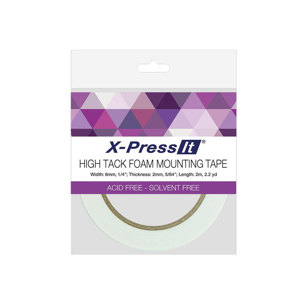 X-Press It High Tack Double-Sided Foam Mounting Tape, 1/4 in -
