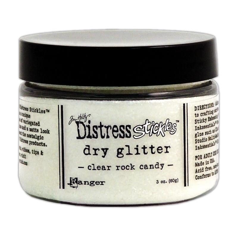 Dry Glitter - Clear Rock Candy, Ranger Distress Stickles Dry Glitter, Clear Rock Candy -