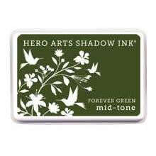 Mid-Tone Forever Green, Hero Arts Shadow Ink -