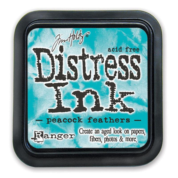 Peacock Feathers, Ranger Distress Ink Pad -