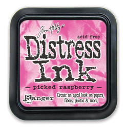Picked Raspberry, Ranger Distress Ink Pad -