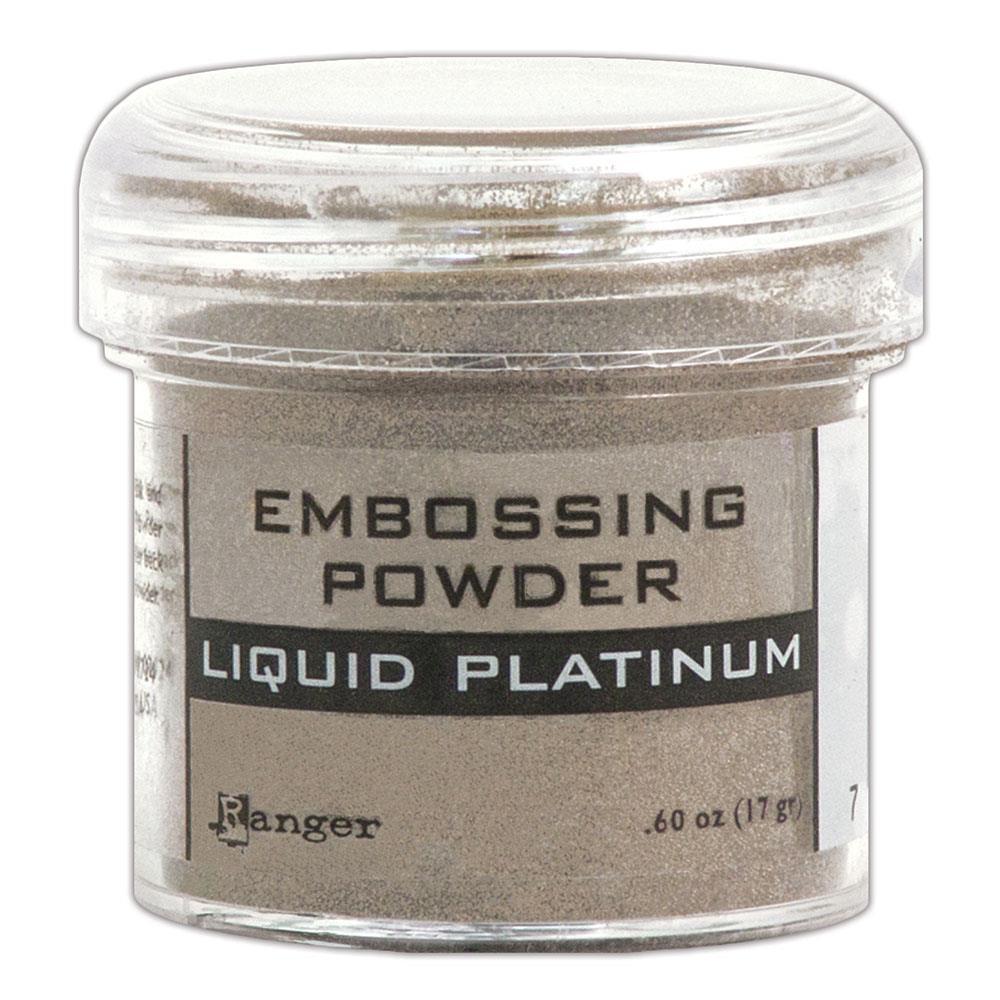Liquid Platinum, Ranger Embossing Powder -