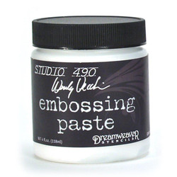 Studio 490 Embossing Paste by Wendy Vecchi, White - 4oz - 199622068564