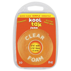3/16' Tape, Kool Tak Clear Foam Adhesive -