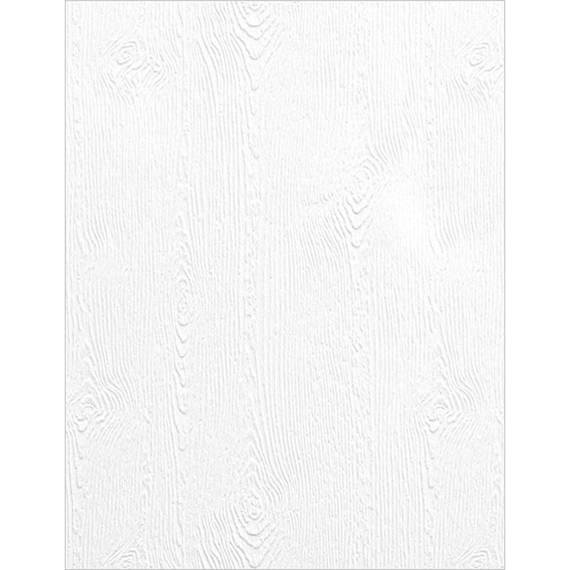 Woodgrain Embossed 110 lb White - 10 Pk, Essentials by Ellen Cardstock -