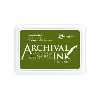 Ranger Archival Ink Pad, Fern Green by Wendy Vecchi - 789541038962