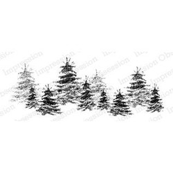 Brush Tree Line, Impression Obsession Cling Stamps -
