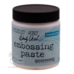 Studio 490 Embossing Paste by Wendy Vecchi, Translucent -