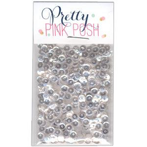 4mm Cupped, Sparkling Clear, Pretty Pink Posh Sequins -