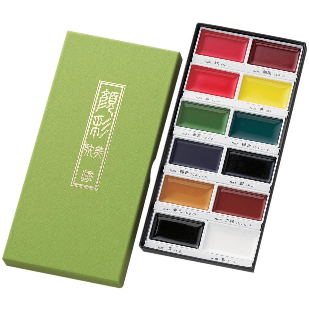12 Color Set, Gansai Tambi -