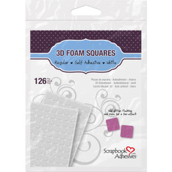 Scrapbook Adhesives 3-D Foam Squares, Regular White -