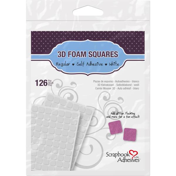 Scrapbook Adhesives 3-D Foam Squares, Regular White -