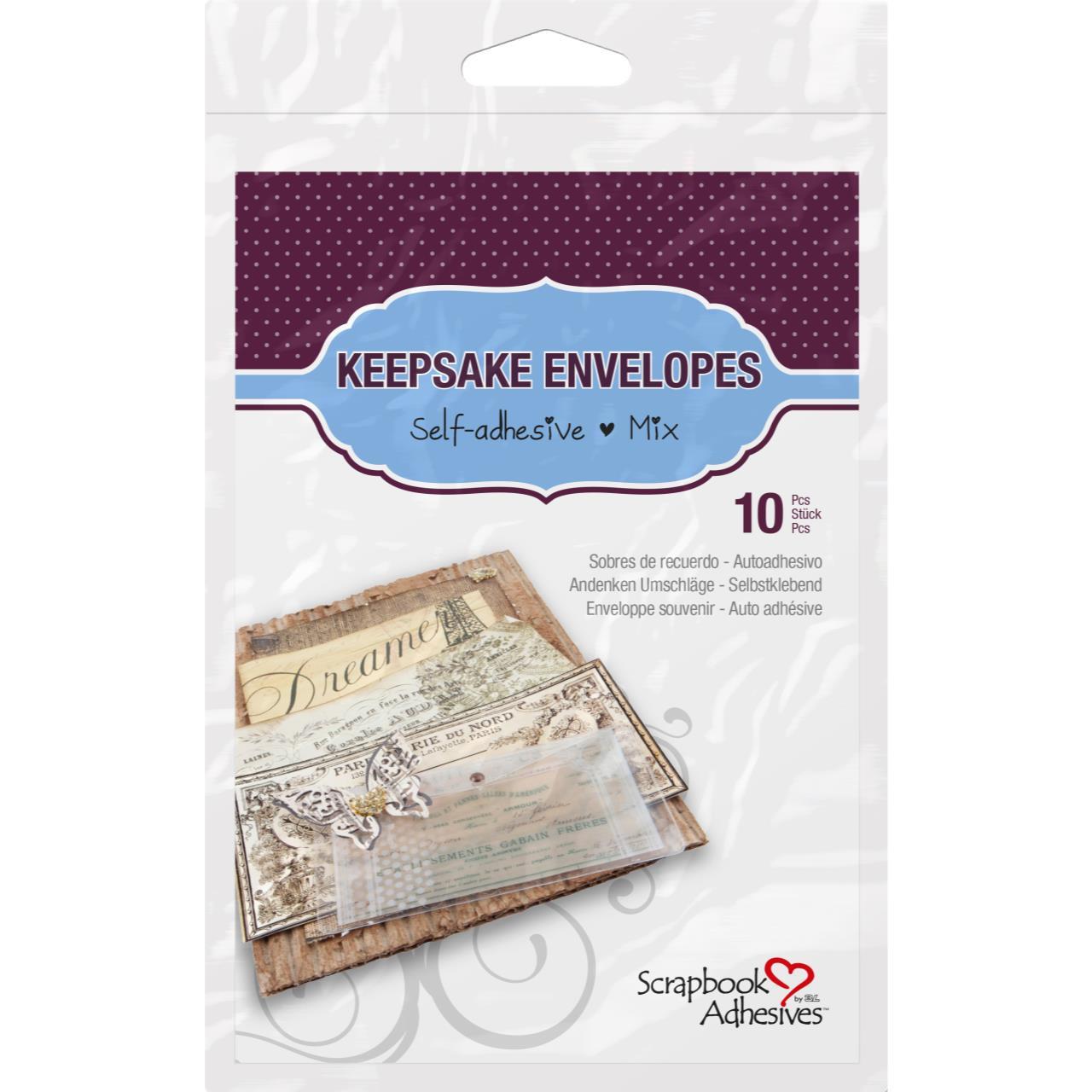 Scrapbook Adhesives Keepsake Envelopes, Assorted -